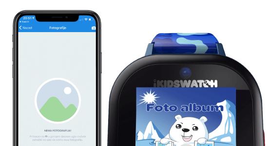 Pametni sat za djecu sadrži foto album – Za pregled slika takodje dijete može poslati sliku na aplikaciju roditelja. A korisnik na aplikaciji može zatražiti novu sliku sa sata a da dijete to ne zna.