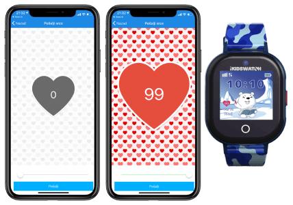 Pametni sat za djecu prikaz nagrada putem aplikacije za sat