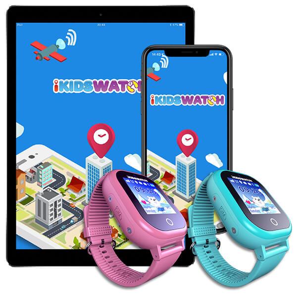 tablet i telefon pored pametnog sata za djecu